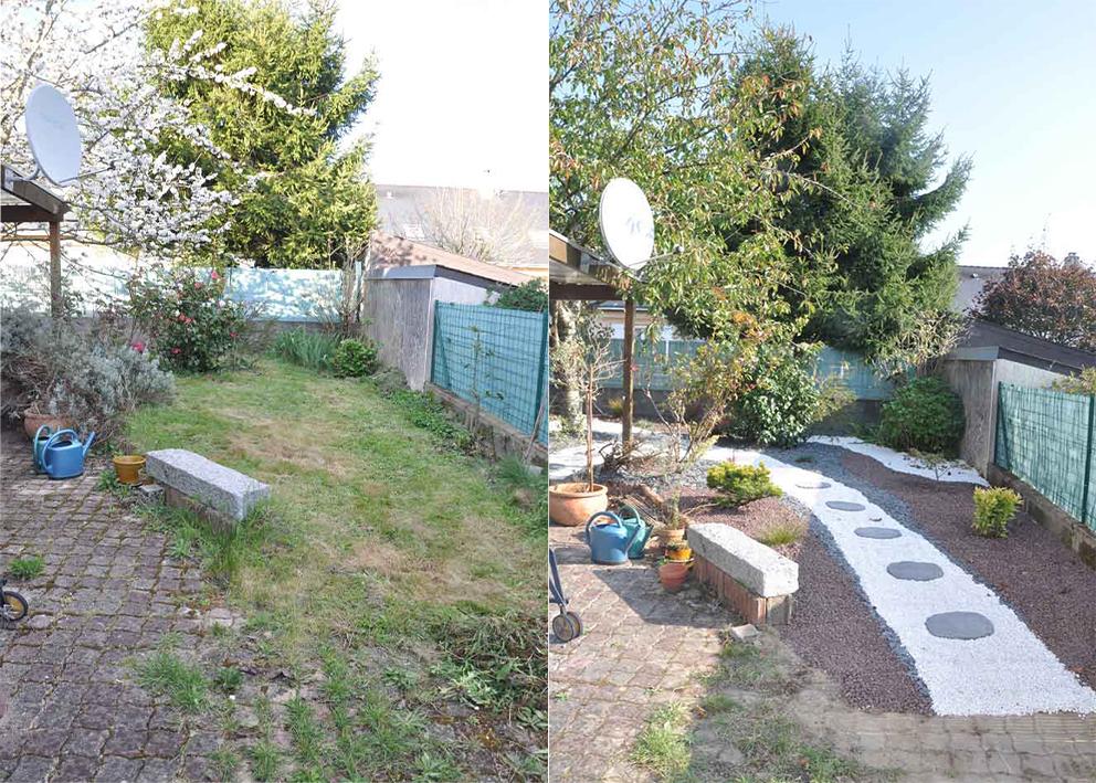 jardin min ral avant apr s o 39 bio potager