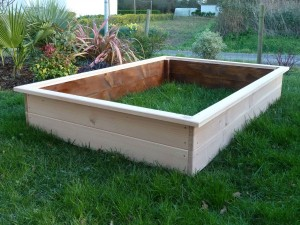 Potager rectangle en pin Douglas brut 180x120x30