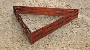 Triangle potager en plessis d'Acier Corten