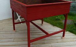 Carré potager surélevé 120x120x100 rouge