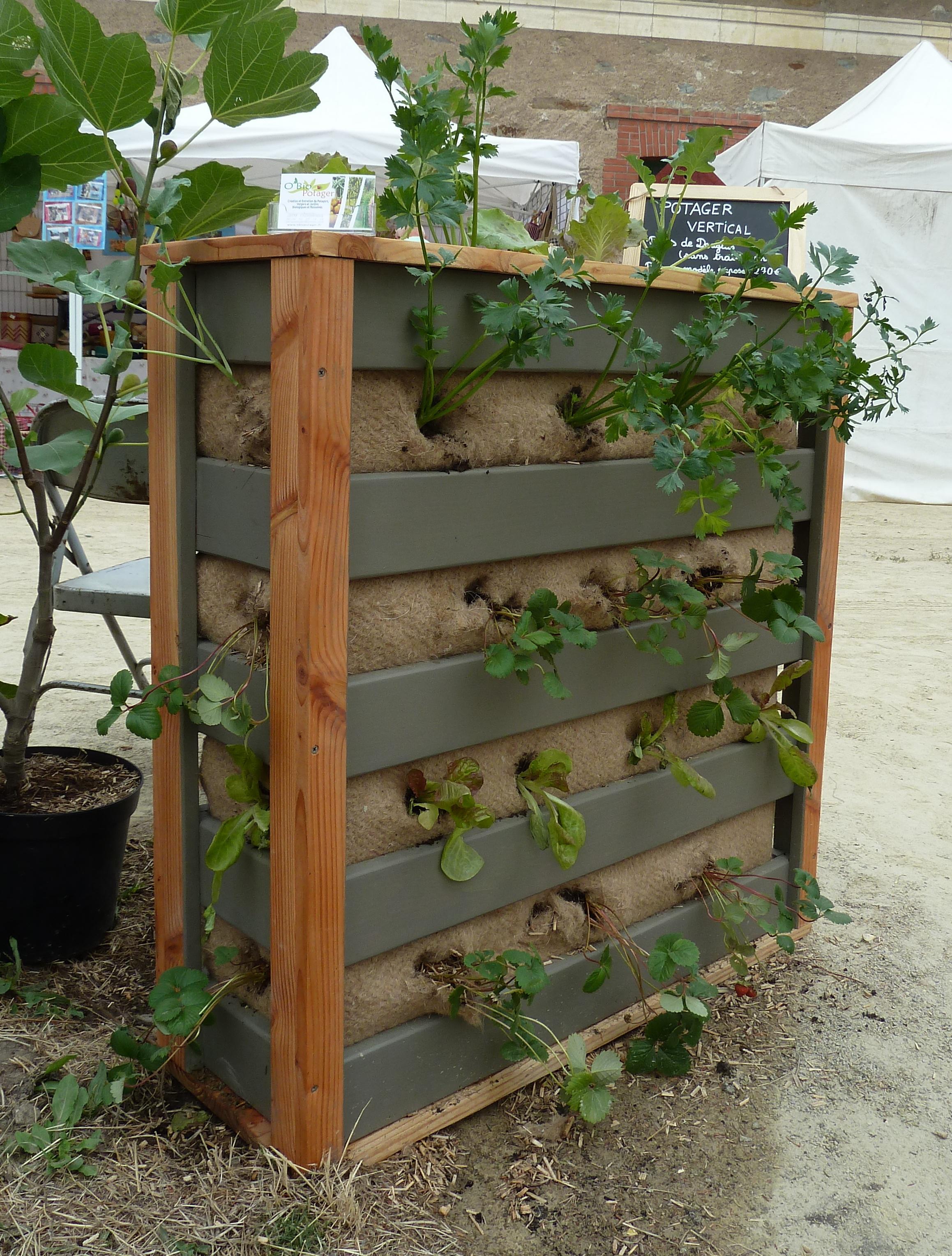 Potager vertical O'Bio Potager # Construire Une Barrière En Bois