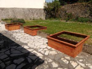 potager en carré, potager en bois , potager surélevé, potager terrasse