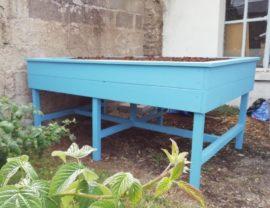 Carrés Potagers sur pieds en Douglas sur mesure 180x120x85 et 100x100x85 coloris Belle île