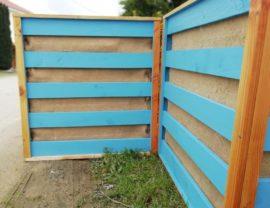Potager vertical 90x90x30 coloris Belle-île et bois